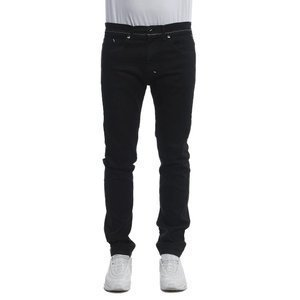 Mass DNM spodnie Signature Jeans Tapered Fit sprany czarny