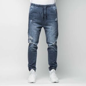 Mass DNM spodnie Street Sign Joggers Jeans Trap Fit - distressed denim