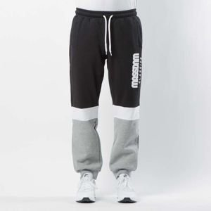 Mass DNM spodnie dresowe Respect Sweatpants Regular Fit - light heather grey / black