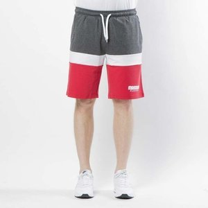 Mass DNM  szorty Respect Sweatshorts - red / dark heather grey