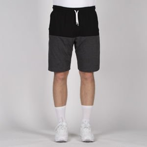 Mass DNM szorty Separate Sweatshorts - black / dark heather grey