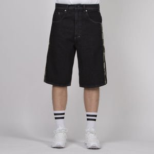 Mass DNM szorty Shelter Shorts Jeans baggy fit - black rinse