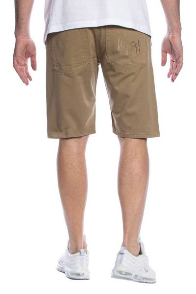 Mass DNM szorty Signature Shorts straight fit - beżowe