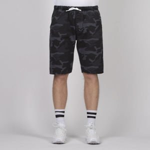 Mass DNM szorty Signature Shorts straight fit - black camo