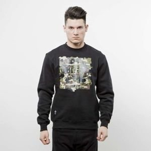 Mass Denim bluza crewneck Ptrol black