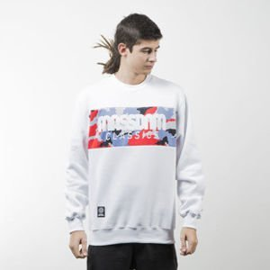 Mass Denim bluza sweatshirt Classics Camo crewneck white
