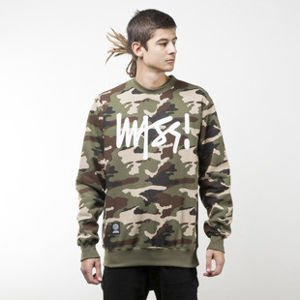 Mass Denim bluza sweatshirt Signature crewneck woodland camo