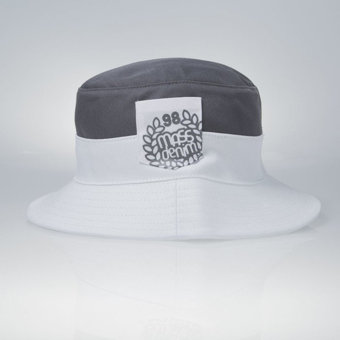 4bd4bdd7841 ... Mass Denim kapelusz bucket hat Pocket Base grey   white ...