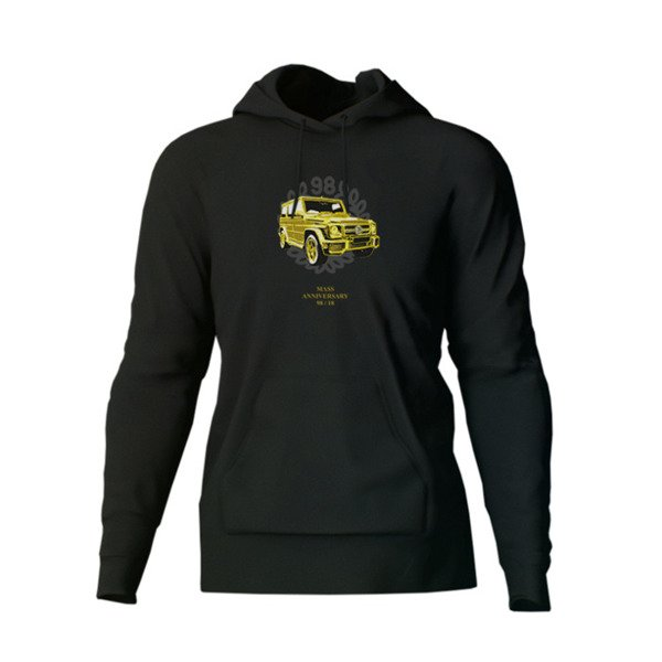 Mass DNM bluza Golden Car Hoody black - 20TH ANNIVERSARY