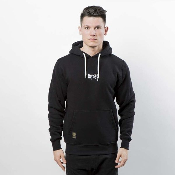 Mass DNM bluza Signature SL Embroidered Sweatshirt Hoody - black LIMITED EDITION