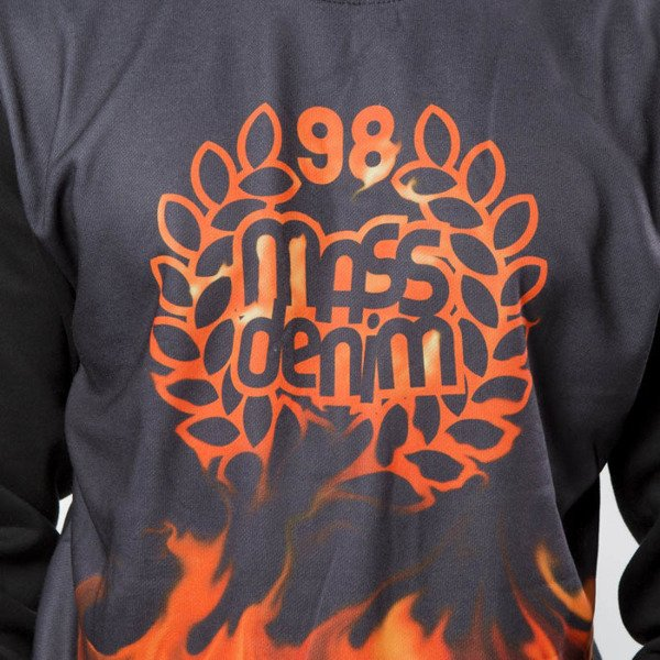 Mass DNM bluza Sweatshirt Crewneck Burn Babylon - black