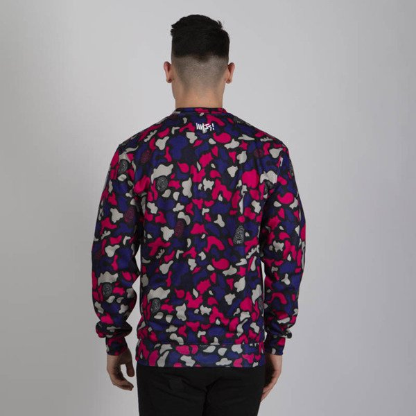 Mass DNM bluza Sweatshirt Crewneck Signature Medium Logo - purple camo