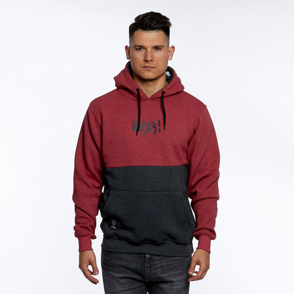 Mass DNM bluza Sweatshirt Result  Hoody - heather claret