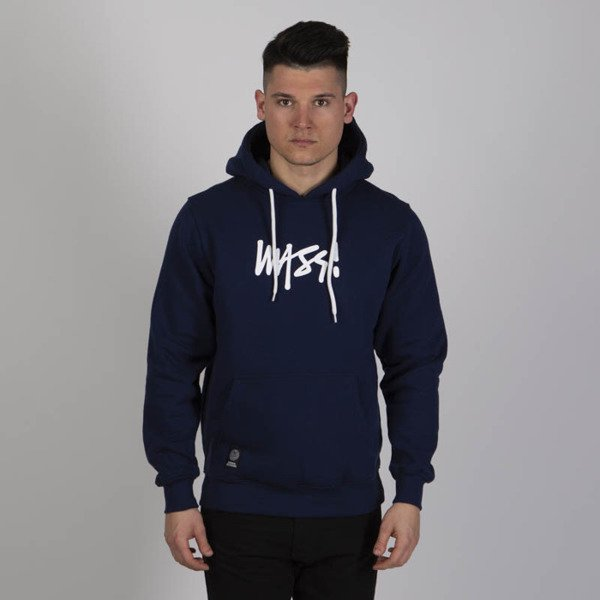 Mass DNM bluza Sweatshirt Signature Medium Logo Hoody - navy