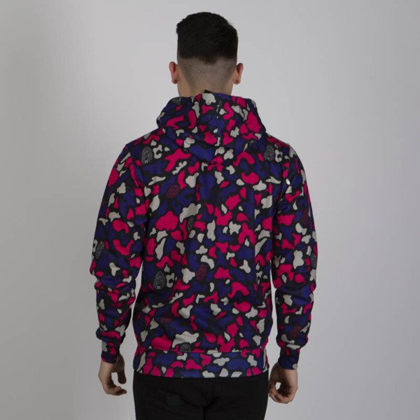 Mass DNM bluza Sweatshirt Signature Medium Logo Hoody - purple camo