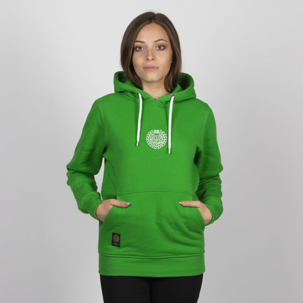 Mass DNM bluza damska Base SL Embroidered Sweatshirt Hoody WMNS - green LIMITED EDITION