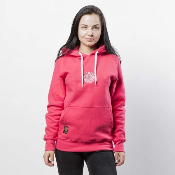 Mass DNM bluza damska Base SL Embroidered Sweatshirt Hoody WMNS - pink LIMITED EDITION