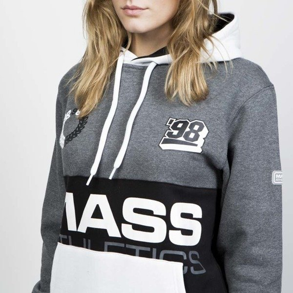 Mass DNM damska bluza Sweatshirt Meeting Hoody - dark heather grey WMNS