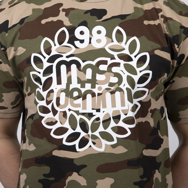 Mass DNM koszulka Base T-shirt - woodland camo