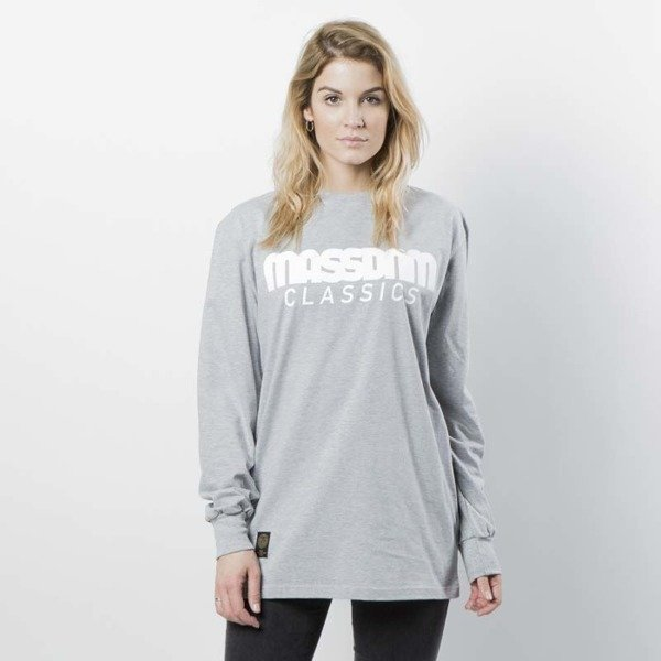 Mass DNM koszulka damska Longsleeve Classics WMNS - light heather grey