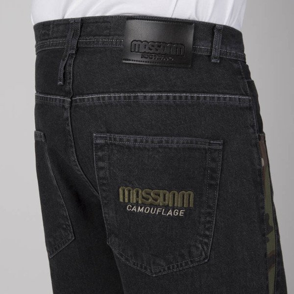 Mass DNM spodnie Jeans Shelter Baggy Fit black rinse