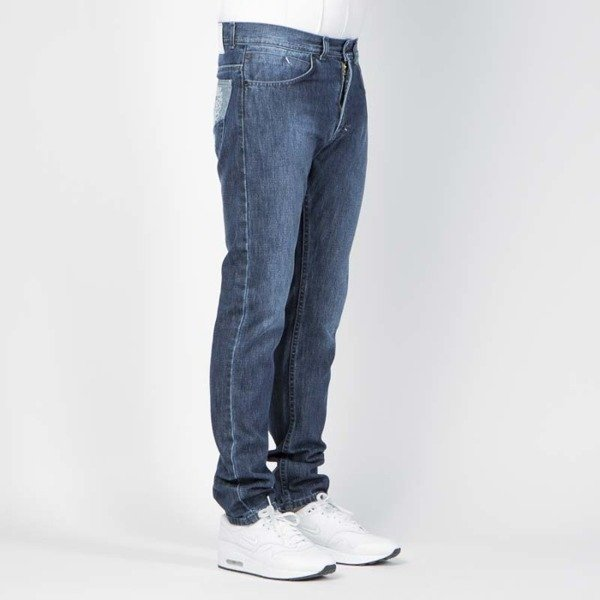 Mass DNM spodnie Jeans Tapered Fit V - dark blue