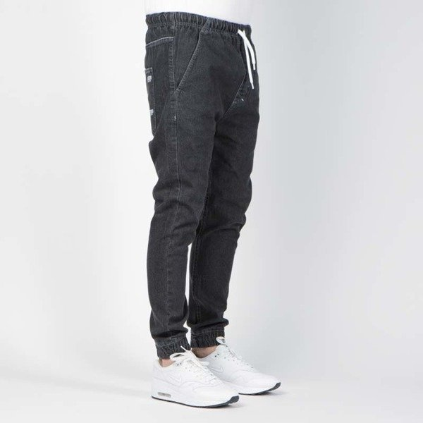 Mass DNM spodnie Original Joggers Jeans Trap Fit - black rinse