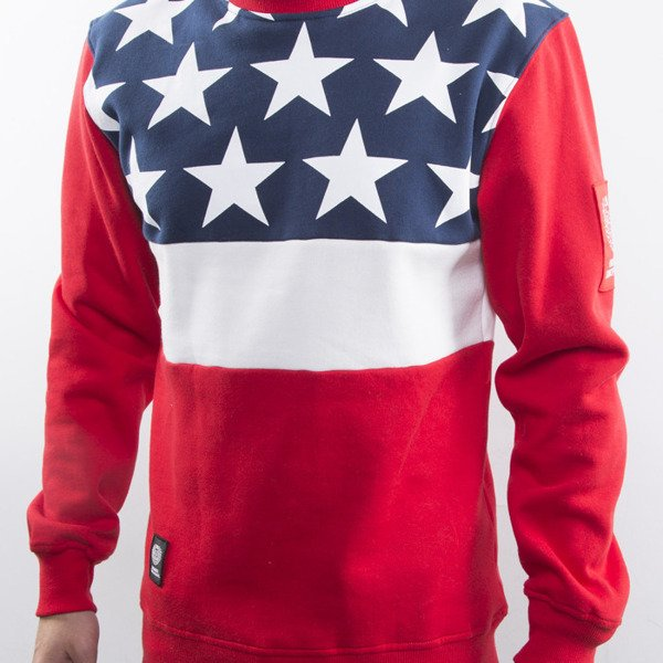 Mass Denim bluza Washington crewneck red