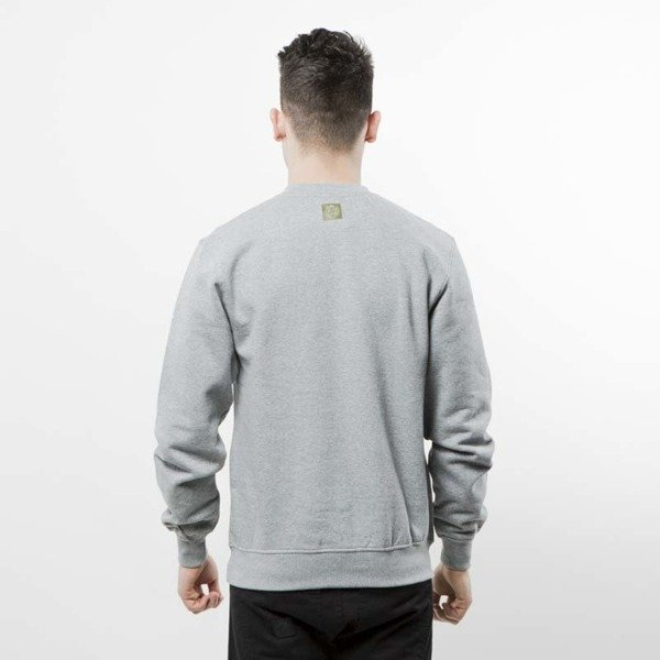 Mass Denim bluza crewneck Ptrol light heather grey
