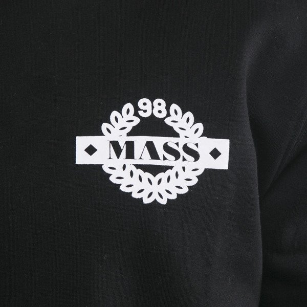 Mass Denim bluza crewneck Side long fit black BLAKK