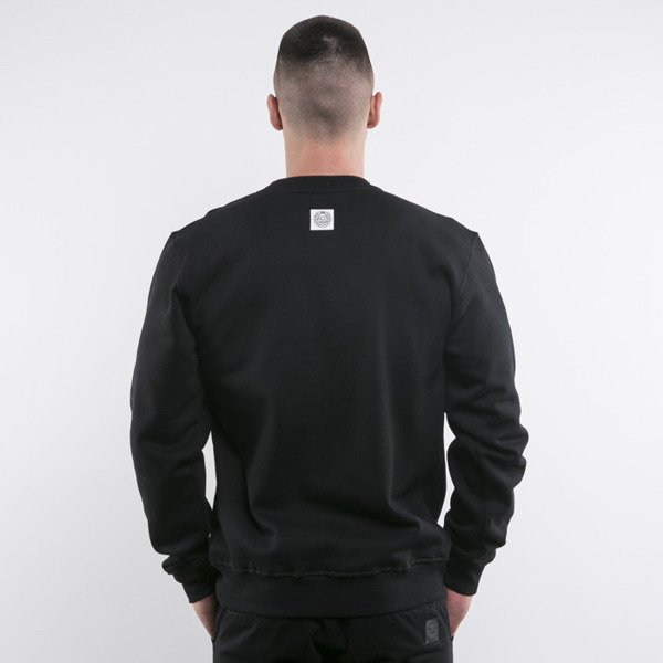 Mass Denim bluza crewneck Statue black