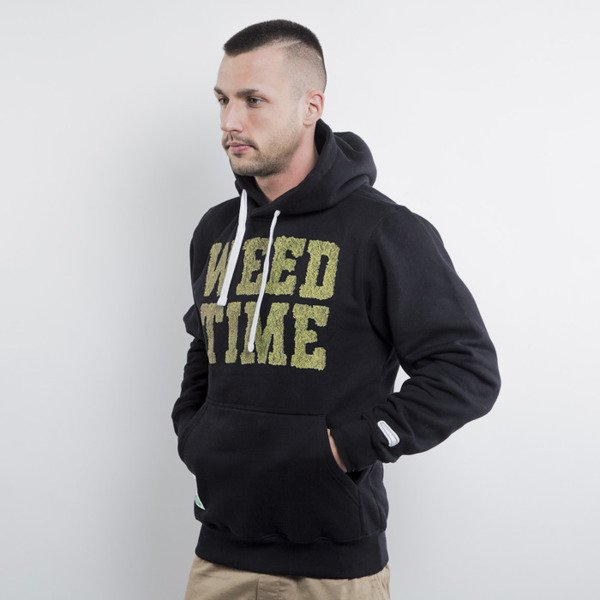 Mass Denim bluza hoody Weed Time black