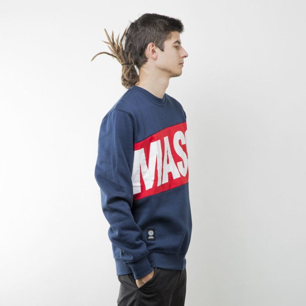 Mass Denim bluza sweatshirt Big Box crewneck navy
