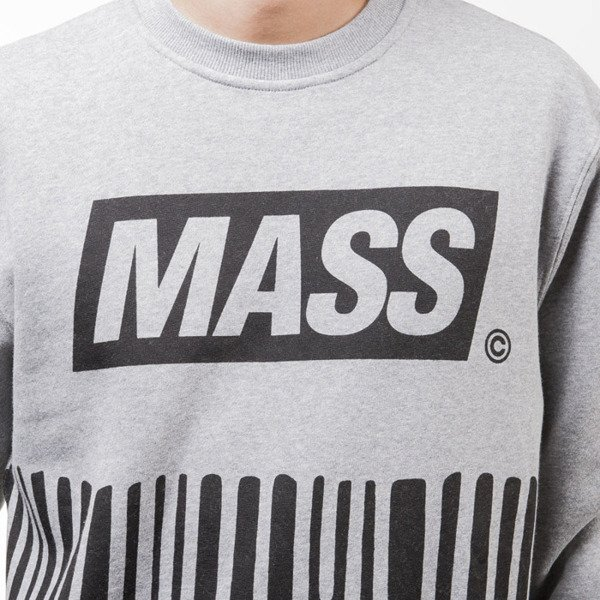 Mass Denim bluza sweatshirt Cover crewneck light heather grey