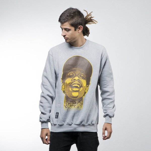 Mass Denim bluza sweatshirt Pittsburgh Legend crewneck light heather grey