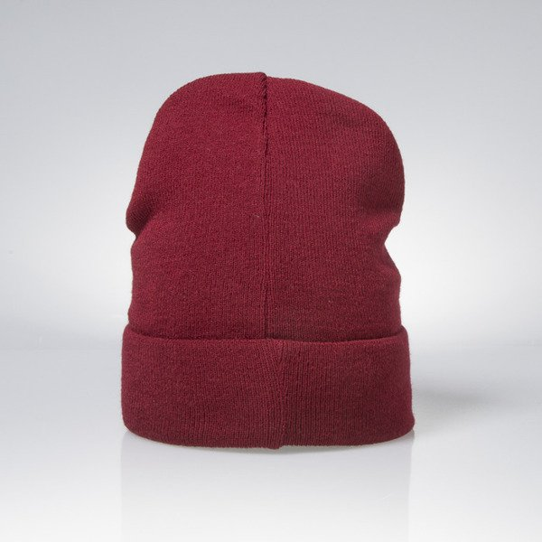 Mass Denim czapka zimowa winter beanie Signature claret