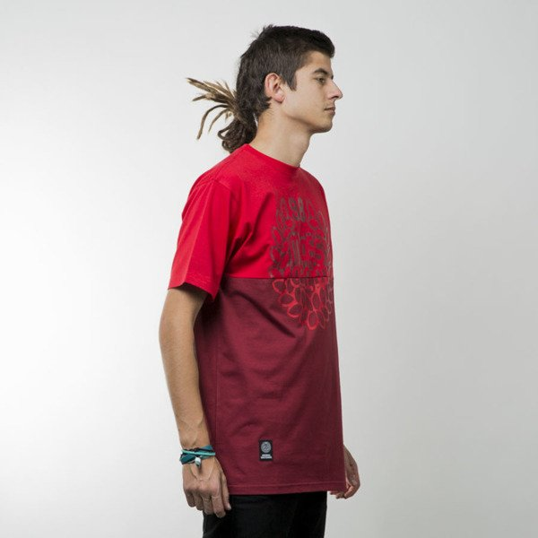 Mass Denim koszulka t-shirt Base Cut red / claret
