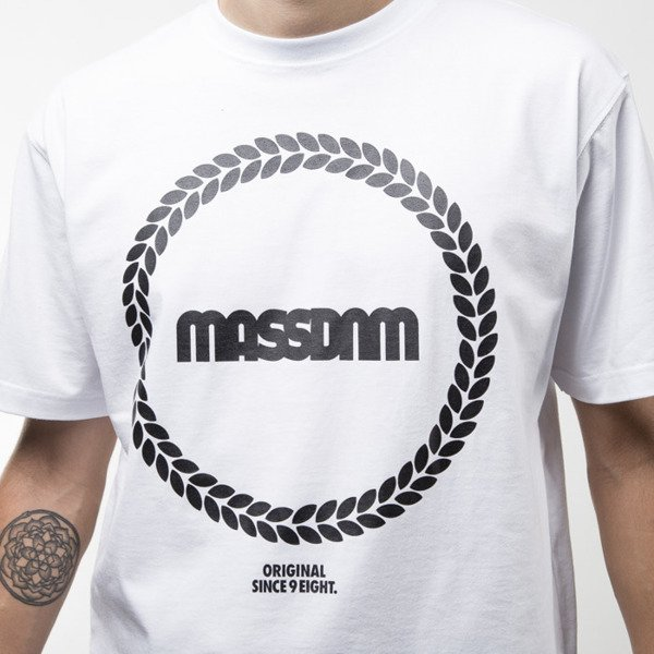 Mass Denim koszulka t-shirt  Ring white