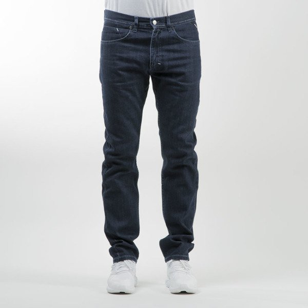 Mass Denim spodnie Jeans Ring tapered fit dark blue