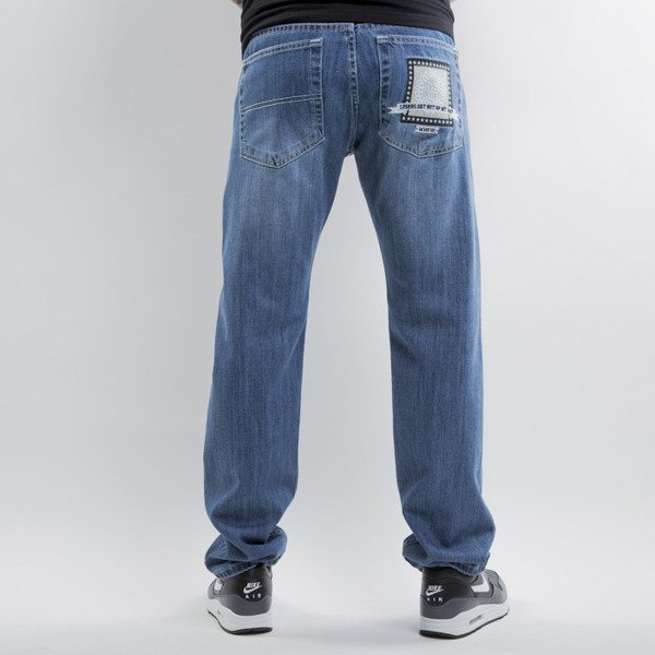 Mass Denim spodnie jeans Capitol straight fit rinse black