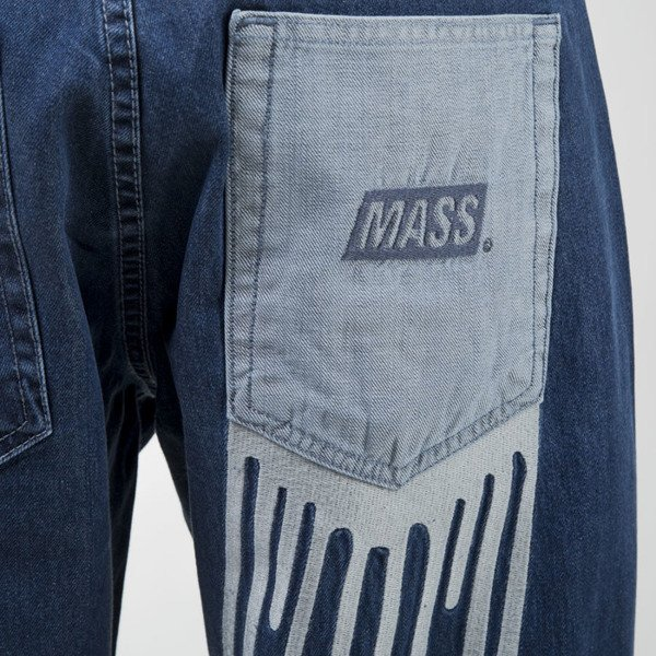 Mass Denim spodnie jeans Pocket Cover baggy fit blue