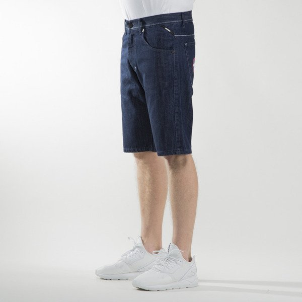 Mass Denim szorty shorts jeans Glory straight fit rinse