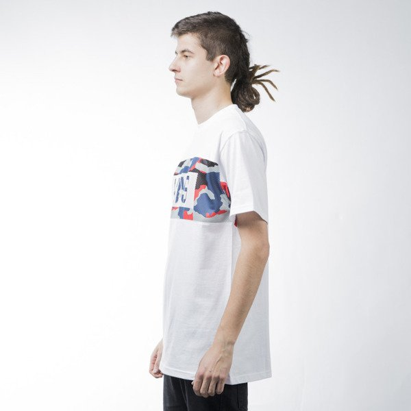 Mass Denim t-shirt koszulka Battle white