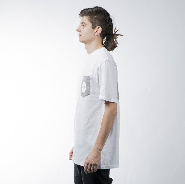 Mass Denim t-shirt koszulka Pocket Signature white