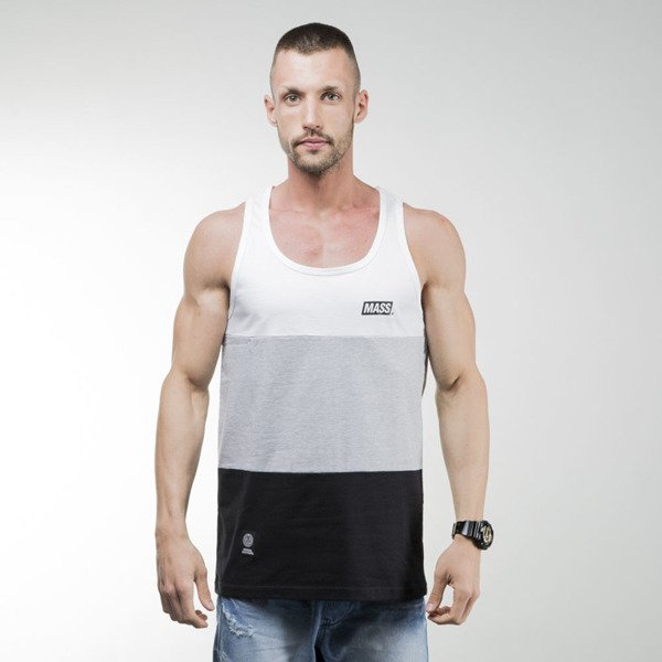 Mass Denim tank top koszulka Horizon light heather grey / black