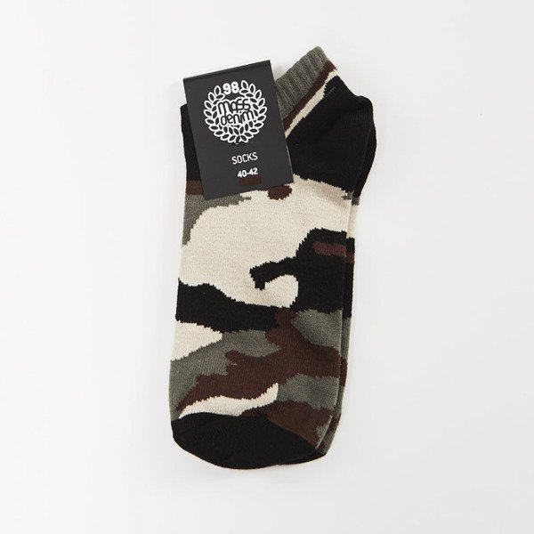 Skarpetki Mass Denim socks Woodland No Show khaki SS 2017