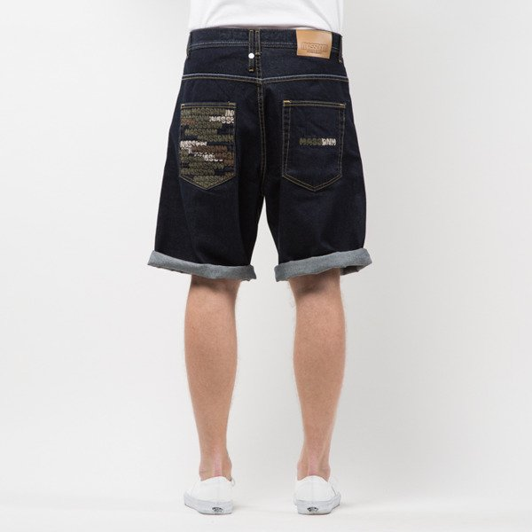 Szorty Mass Denim Shorts Jeans Phat Camo baggy fit rinse SS 2017